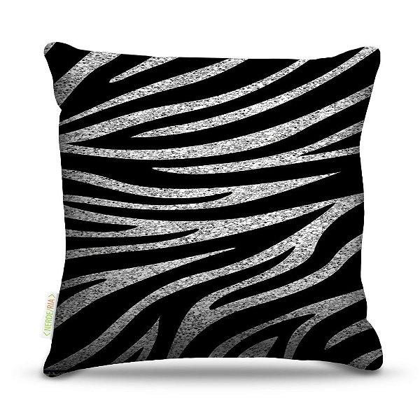 Almofada 40 x 40cm Nerderia e Lojaria zebra grunge colorido