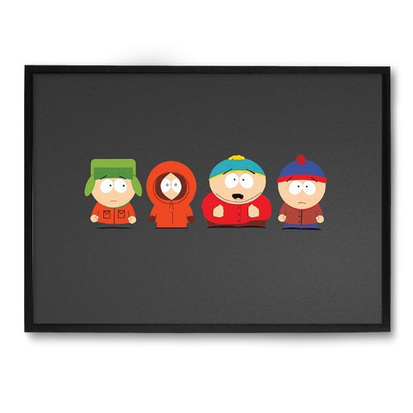 Quadro Decorativo 33x43cm Nerderia e Lojaria south park preto