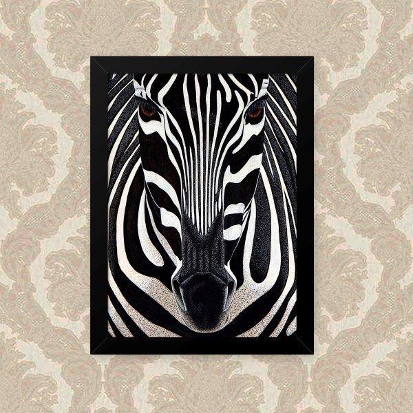 Quadro Decorativo 33x43cm Nerderia e Lojaria zebra preto