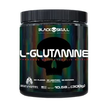 L-Glutamine 300g - Black Skull