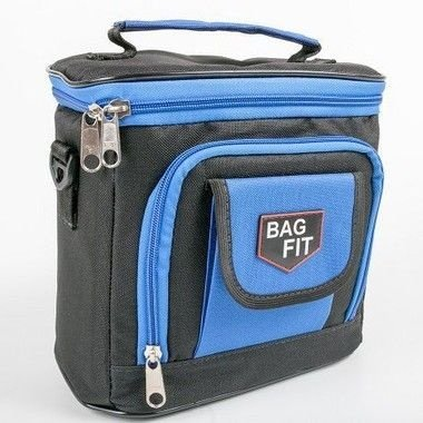 Bolsa Térmica Bag Fit Mini Preto com Azul - Bag Fit