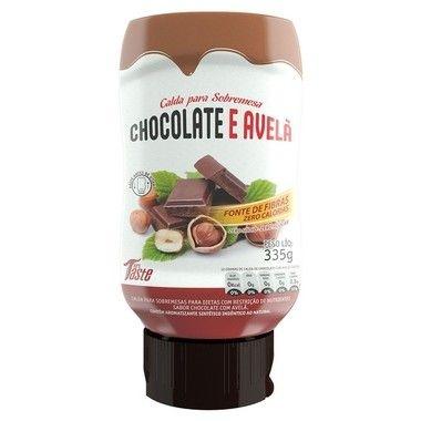 Calda de Chocolate e Avelã Zero Calorias 335g - MRS Taste