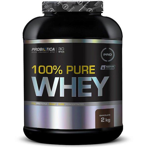 2c096966b2 Concentrado 100% Pure Whey protein 2kg Probiótica Baunilha Chocolate ...