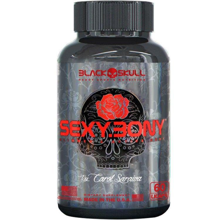 Sexy Bony 60 Cápsulas - Black Skull