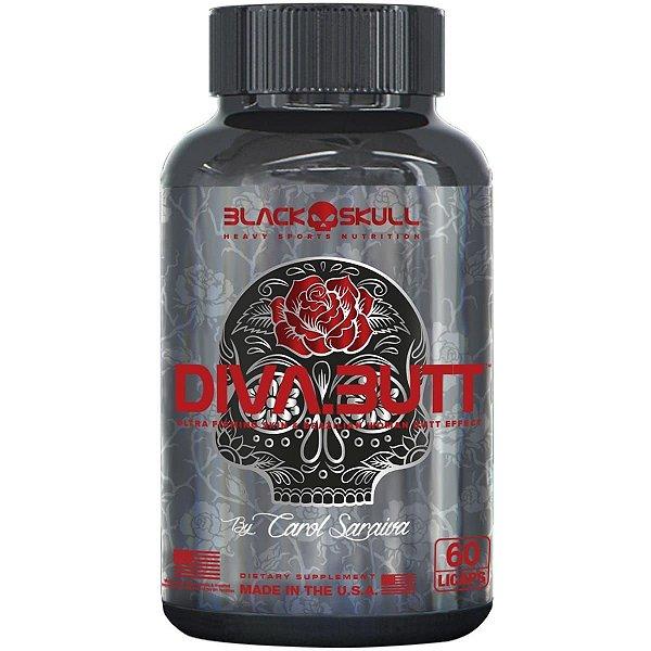 Diva Butt 60 Cápsulas - Black Skull
