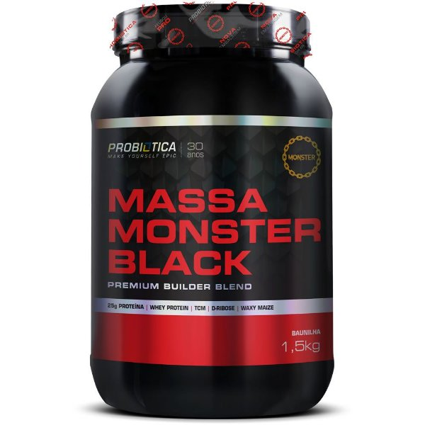 Hipercalórico Massa Monster Black 1,5kg- Probiótica