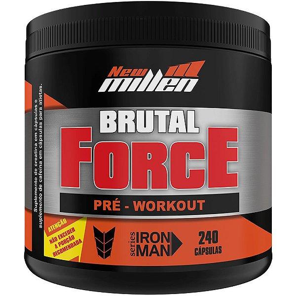 Pré Treino Brutal Force 240 Cápsulas - New Millen