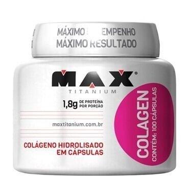 Colagen 100 Cápsulas - Colágeno Max Titanium