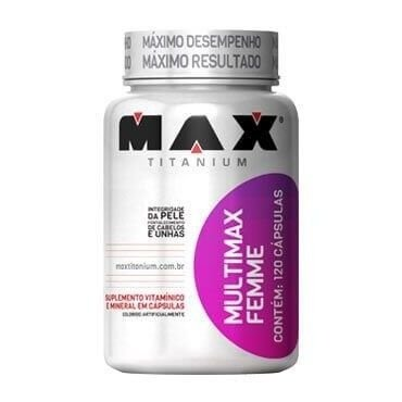 Multivitamínico Multimax Femme 120 Cápsulas - Max Titanium