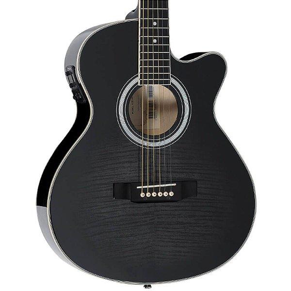 Violão Elétrico Vogga VCE330BMF Black Maple Flamed