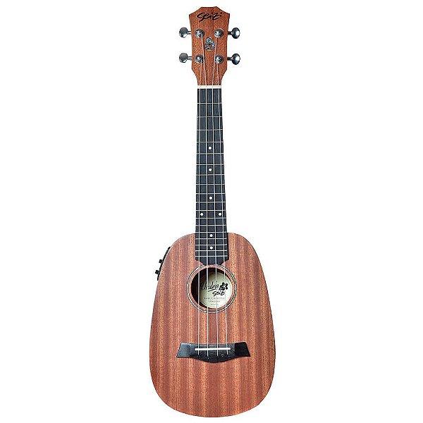 Ukulele Eletro-Acústico Seizi Bali Concert Pineapple Sapele