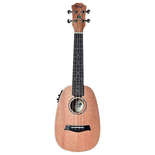 Ukulele Eletro-Acústico Seizi Bali Concert Pineapple Okume