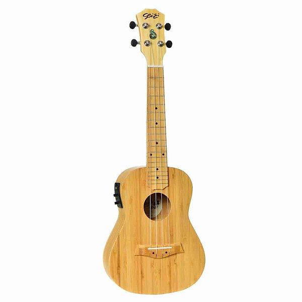 Ukulele Elétrico Seizi Bali Concert Solid Bamboo com Bag