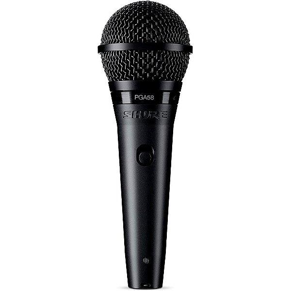 Microfone Dinâmico Shure PGA58-LC Cardioide