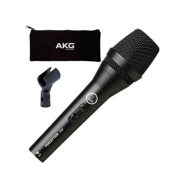 Microfone AKG Perception P3 S Dinâmico Cardioide