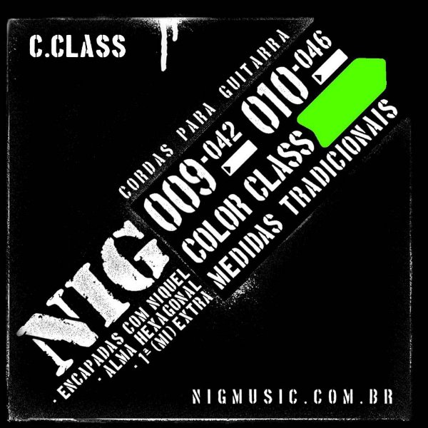 Encordoamento NIG Color Class 009/042 Verde para Guitarra