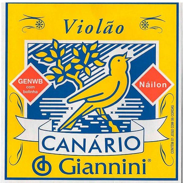 Encordoamento Giannini GENWB Canário Tensão Média Nylon