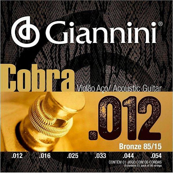 Encordoamento Giannini GEEFLKS .012/.054 para Violão Aço