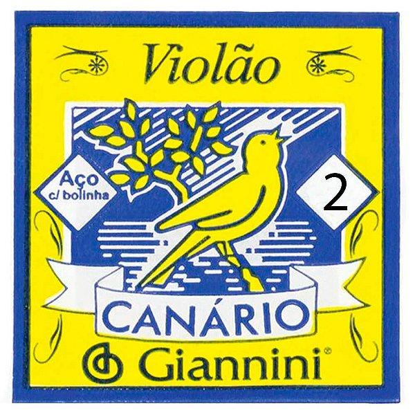Corda Avulsa Giannini Canário GESWB Segunda Si para Violão