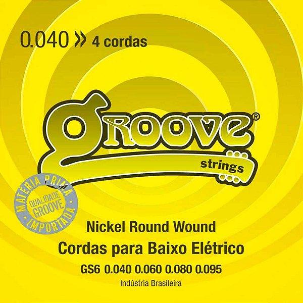 Encordoamento Solez GS6 0.40/0.95 Groove para Baixo 4 cordas
