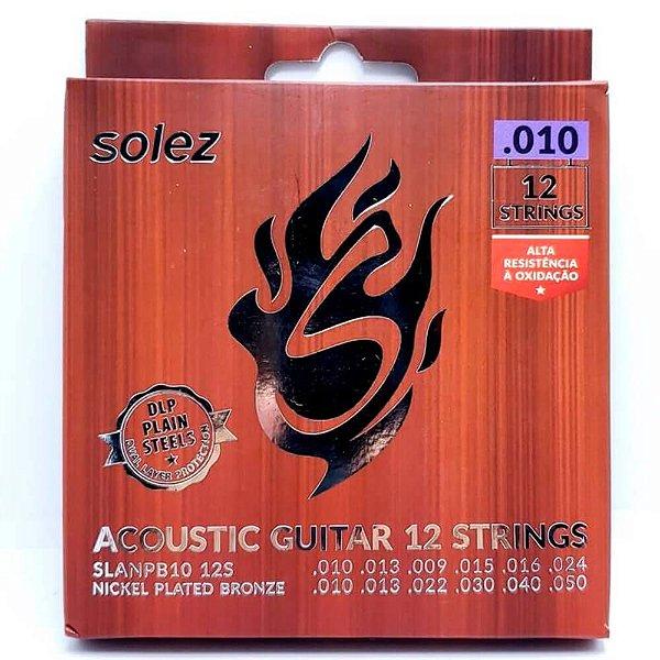 Encordoamento Solez SLANPB10 12S 010/050 P/ Violão 12 Cordas