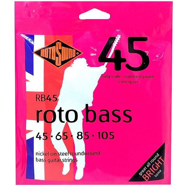 Encordoamento 4C Rotosound RB45 045/105 para Contrabaixo