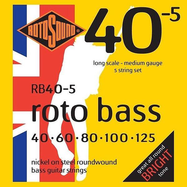 Encordoamento Rotosound RB40-5 Híbrida 40/125 para Baixo