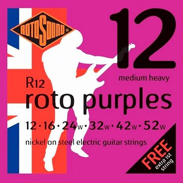 Encordoamento Rotosound R12 Pink .012/.052 para Guitarra