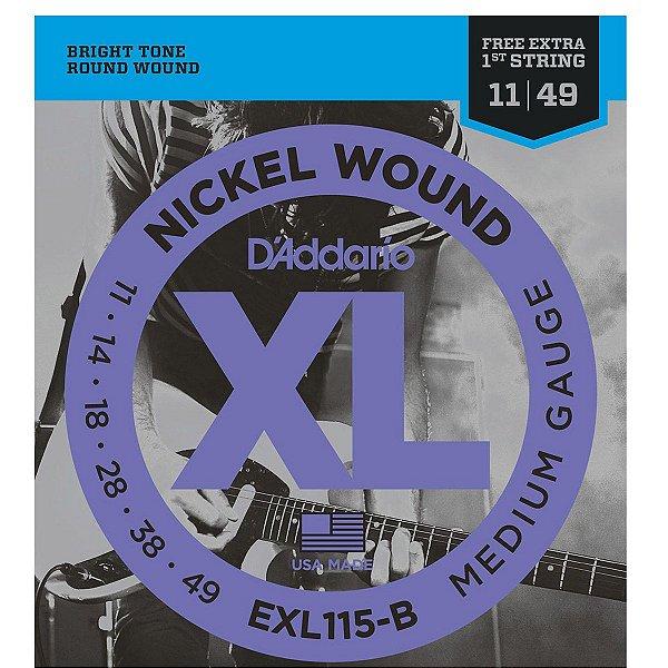 Encordoamento D'addario EXL115-B 011/049 para Guitarra