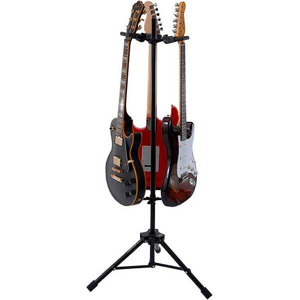 Suporte de Chão Ibox AGSTRIO Preto para 3 Instrumentos