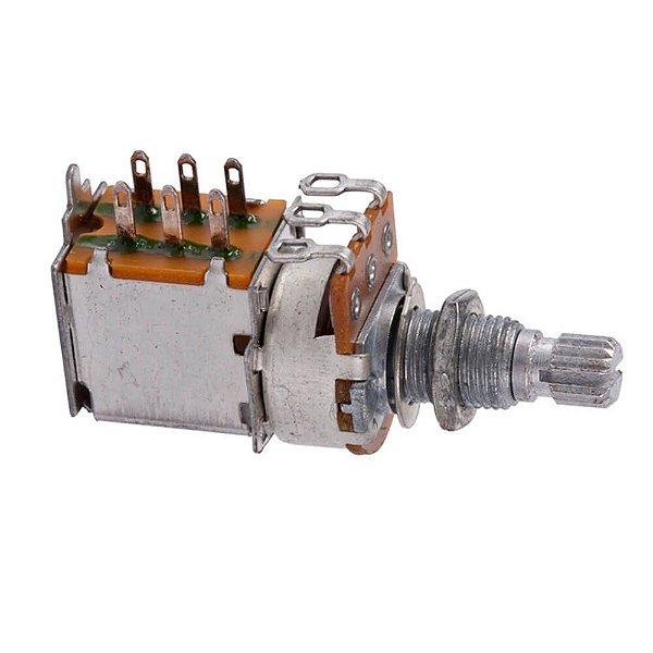Potenciômetro Dolphin A250K Push Pull Logarítmico para Tone
