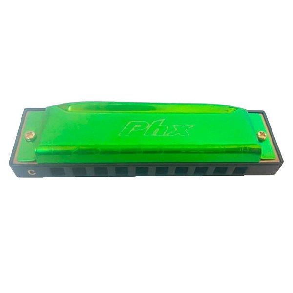 Gaita Harmônica Phx LE-1020C Verde Clara em Dó (C)