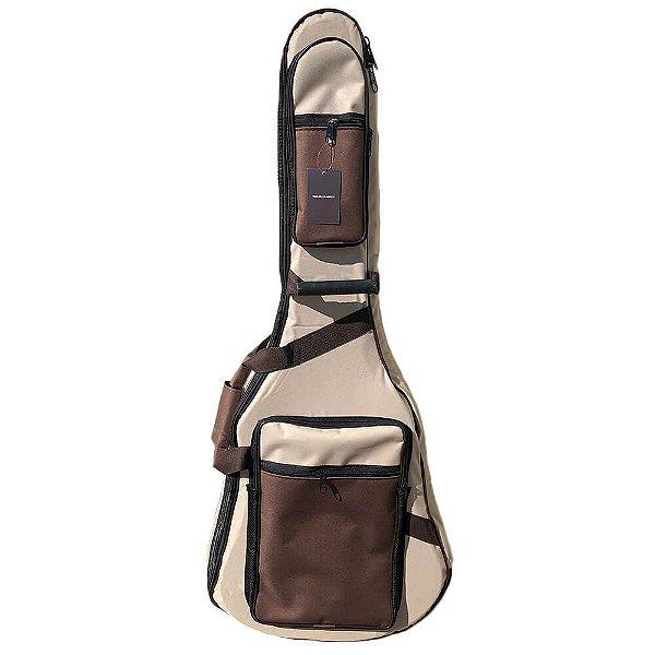 Semi Case Log Bags Deluxe Bege para Violão Clássico