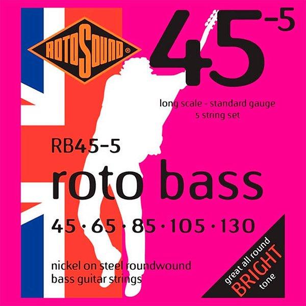 Encordoamento 5C Rotosound RB45-5 045/130 para Contrabaixo