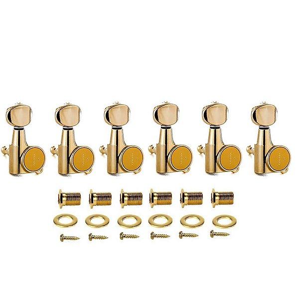 Tarraxas Gotoh SG38105MLGG Dourada 6 em Linha com Trava
