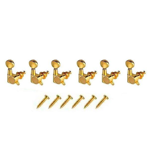 Tarraxas Paganini PTG-731 Douradas para Violão ou Guitarra