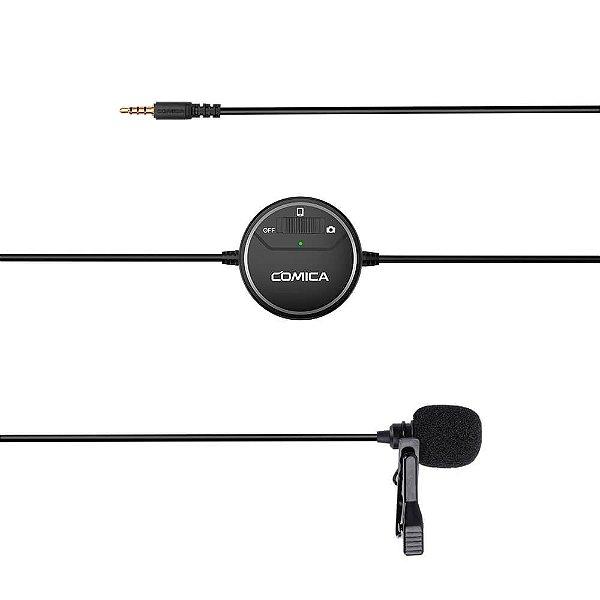 Microfone de Lapela Comica SIG.LAV V03 para Smartphone