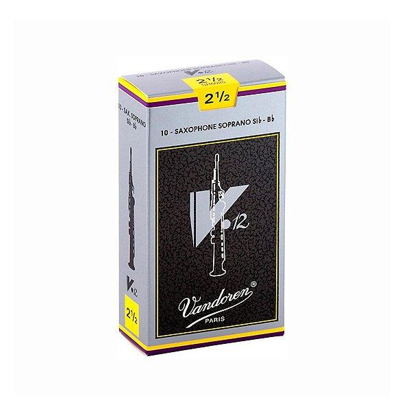 Palheta Vandoren V12 N º 2,5 para Sax Soprano
