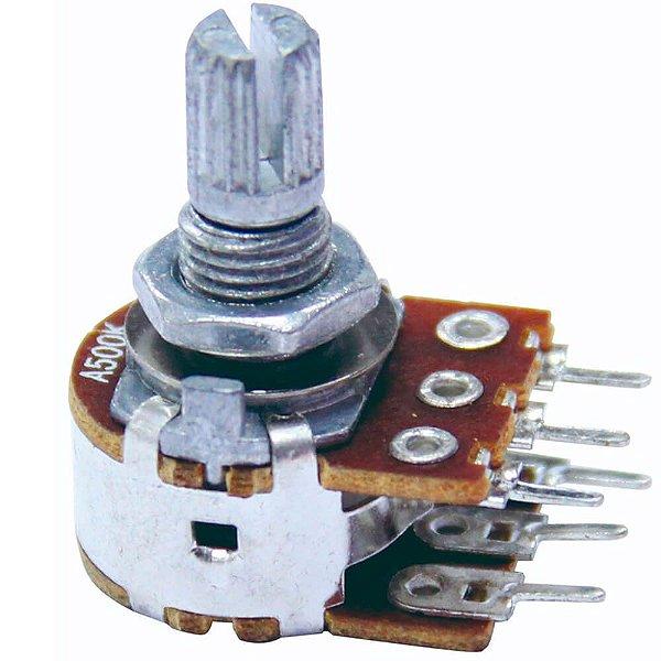 Potenciômetro Duplo Dolphin A500K 15/16mm para Tone