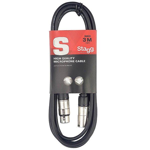 Cabo Stagg SMC3 XLR/XLR 3 Metros para Microfone