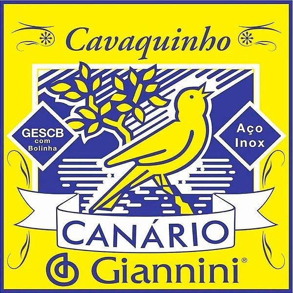 Encordoamento Giannini GESCB .010/.023 Canário Para Cavaco
