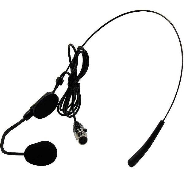 Microfone Headset Leson Hd 750r Mini Xlr 3 Pino