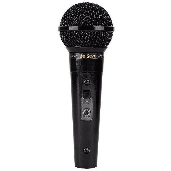 Microfone Vocal Profissional SM-58 P4 Preto LESON