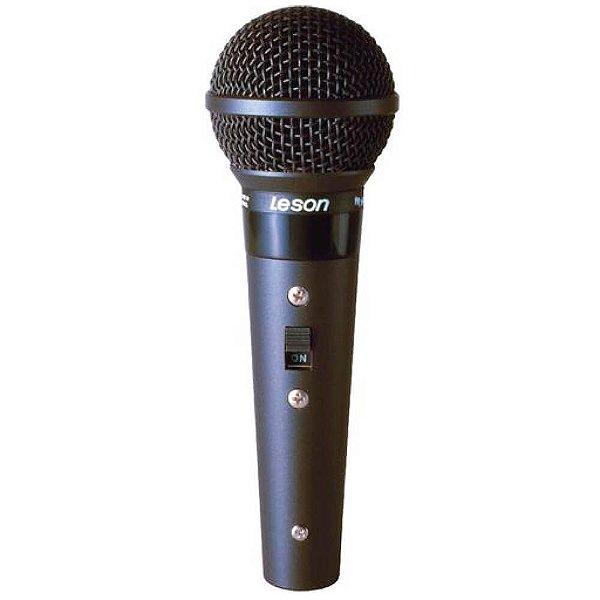 Microfone Profissional Leson Sm58 Blc Cardióide