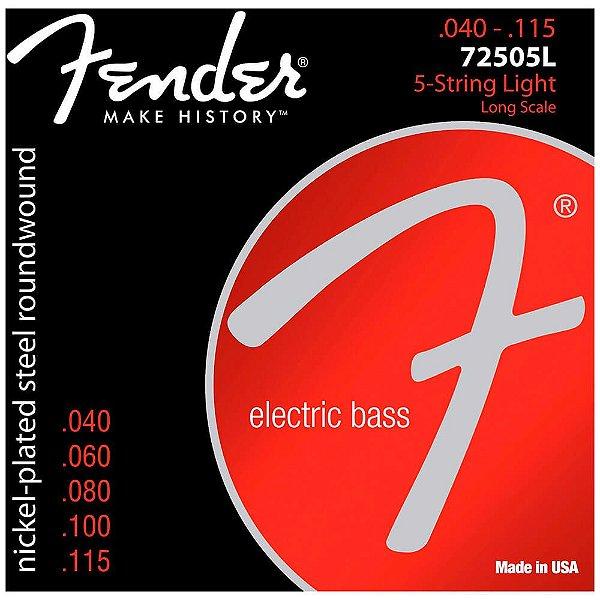 Encordoamento Fender 72505l .040 Aço Para Baixo 5 Cordas