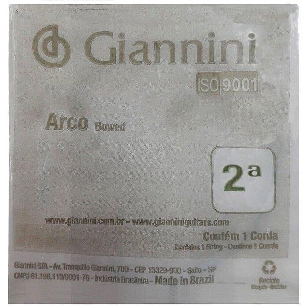 Kit C/ 12 Cordas Giannini Geavva Segunda Lá Média P/ Violino