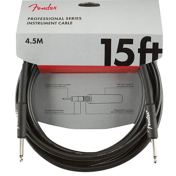 Cabo Fender Professional Series P10/P10 90° 4,5m Preto