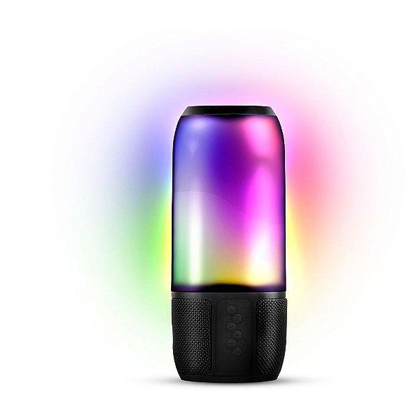 CAIXA DE SOM BLUETOOTH//USB/SD LIGHT SHOW 8W COM BATERIA E ILUMINAÇÃO