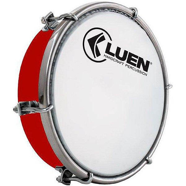 Tamborim Luen Percussion 06 ABS Vermelho com Pele Leitosa