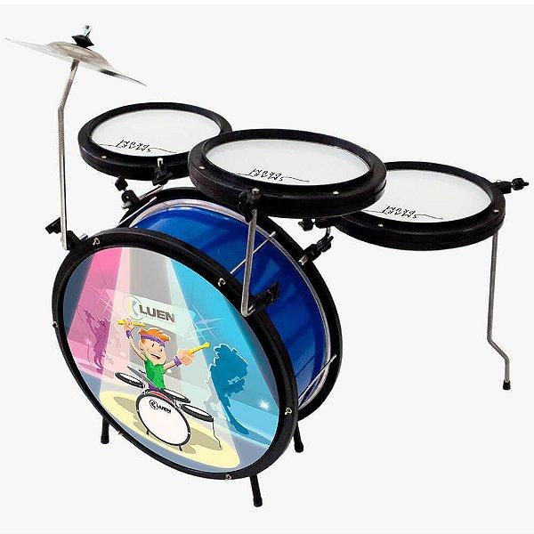 Bateria Infantil Luen Percussion Smart Drum Azul